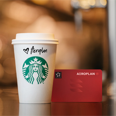 Aeroplan is proud to announce that its millions of Members can now earn and redeem points by enjoying their favourite Starbucks beverages and snacks. (CNW Group/Air Canada)