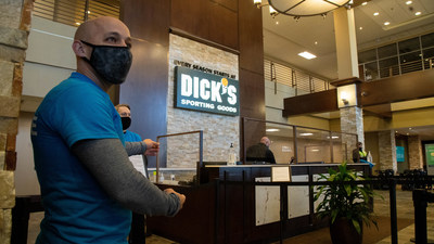 Entrance to AHN vaccine clinic at DICK'S Sporting Goods' corporate office.