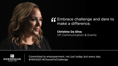Norwegian Cruise Line to host month-long Empowerment Program to commemorate International Women's Day.