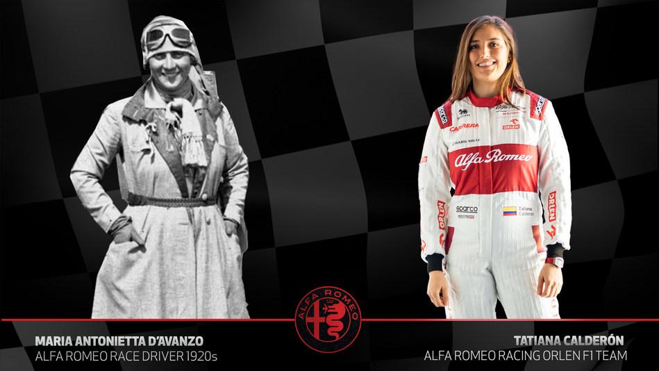 Alfa Romeo salutes 100 years of female race drivers: Maria Antonietta d'Avanzo to Tatiana Calderon