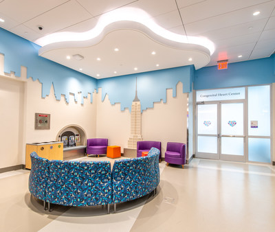 The Congenital Heart Center patient and family waiting area.