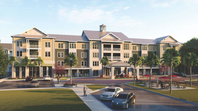 Inspire Coastal Grand is a new 194-unit active senior apartment community opening in April 2021. It features all-inclusive living with many amenities and attractive home interiors.