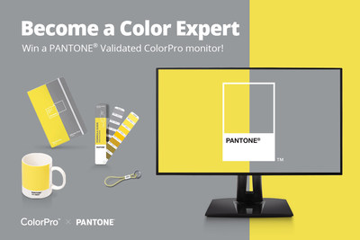 Answer fun facts related to Pantone and ColorPro VP68a monitors on the campaign webpage correctly, and have the chance to win a Pantone Validated ColorPro VP2768a professional monitor and other special Pantone prizes.