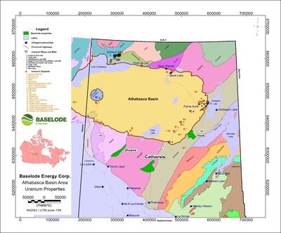 Baselode Energy Corp. - Athabasca Basin Area - Uranium Properties (CNW Group/Baselode Energy Corp.)
