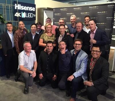 Tania Garonzi, vicepresidenta de Hisense Australia, dirigió su equipo para lograr impresionantes resultados de ventas durante el confinamiento. (PRNewsfoto/Hisense)