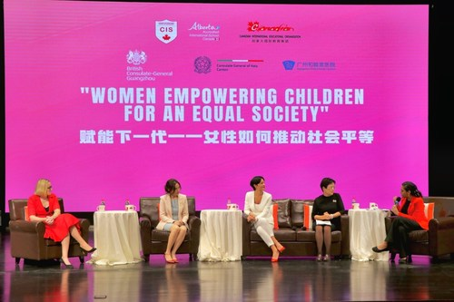 5 prominent panelists were discussing the Gender Equity Issues