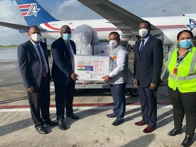 Covid-19 Vaccine Arrival Guyana (PRNewsfoto/Amerijet International, Inc.)
