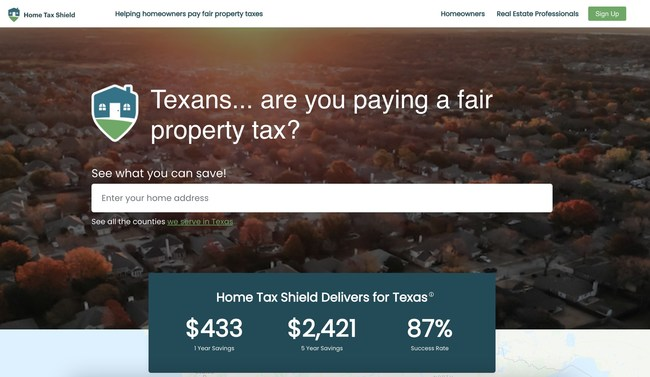 Home Tax Shield website