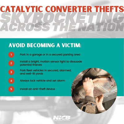 As catalytic converter thefts skyrocket across the nation, the National Insurance Crime Bureau advises vehicle owners take steps to reduce the chances of theft.