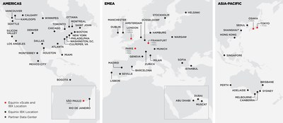 Equinix IBX and xScale Data Center Map