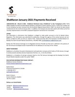 January Payment (CNW Group/ShaMaran Petroleum Corp.)