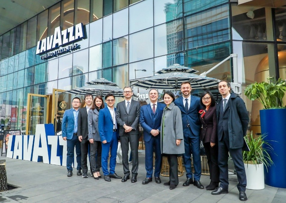 Members of the Company's senior management team and members of the Lavazza team in China met Ambassador Ferrari at Lavazza's first Asian flagship store in Shanghai
