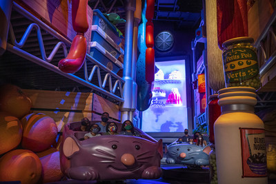 The grand opening for Remy's Ratatouille Adventure is set for Oct. 1, 2021, at EPCOT at Walt Disney World Resort in Lake Buena Vista, Fla. The family-friendly attraction makes guests feel as if they shrink to the size of Chef Remy as they scurry through Gusteau's restaurant. It will open in an expanded section of the park's France pavilion and will open as part of the 50th anniversary celebration for Walt Disney World. (Matt Stroshane, photographer)