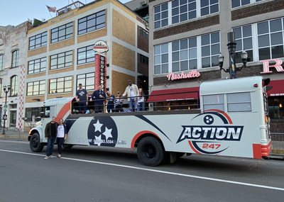 Action 247 and Honky Tonk Party Express are ready for some hoops.