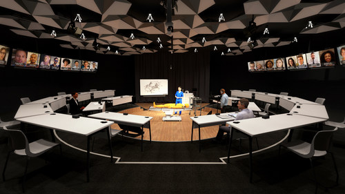 X2O Collaboration Room provides immersive training for in-room and remote employees
