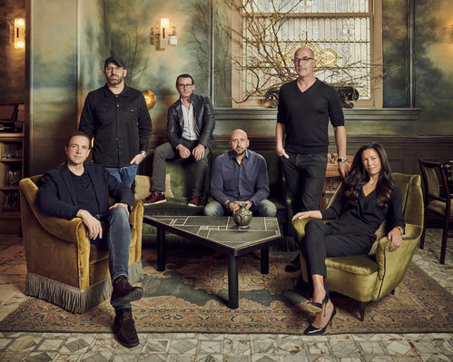 CultureWorks Team. From left: Marcel Reichart (Board Director, Executive Advisor & Co-Founder), Jon Goss (Chief Brand Officer & Co-Founder), Josh Wyatt (CEO, Board Member & Co-Founder), Andrew Herschkowitz (Chief People Officer), Yoram Roth (Executive Chairman of the Board & Founder), Adriana Marianella (Chief Development Officer).