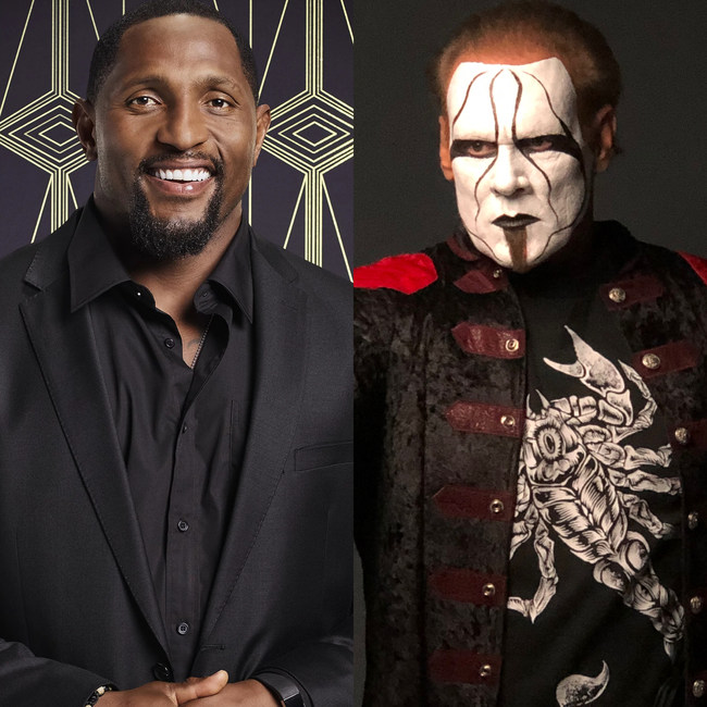 Ray Lewis and Steve Borden (AKA STING)