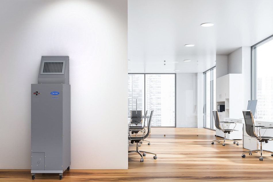 The OptiClean unit can help small-business owners improve the air in their spaces, such as offices, showrooms and meeting rooms.