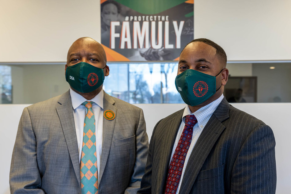 Dr. William E. Hudson, Jr., Vice President of Student Affairs, Florida A&M University; and Michael Luckett, Executive Director, Logistics & IT Management, Conn's HomePlus