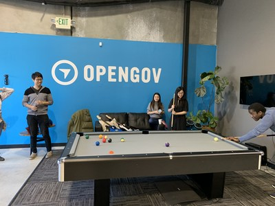 OpenGov employees enjoy some downtime (pre-pandemic)