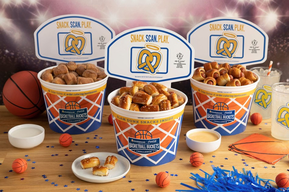 Auntie Anne's celebrates the tournament with Basketball Buckets and so much more!