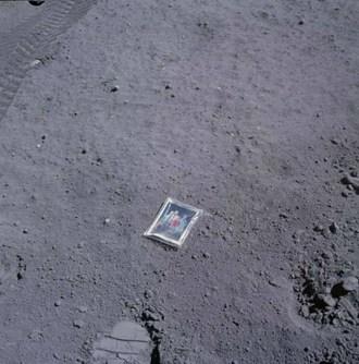 Charles M. Duke, Jr., family photo on the moon
