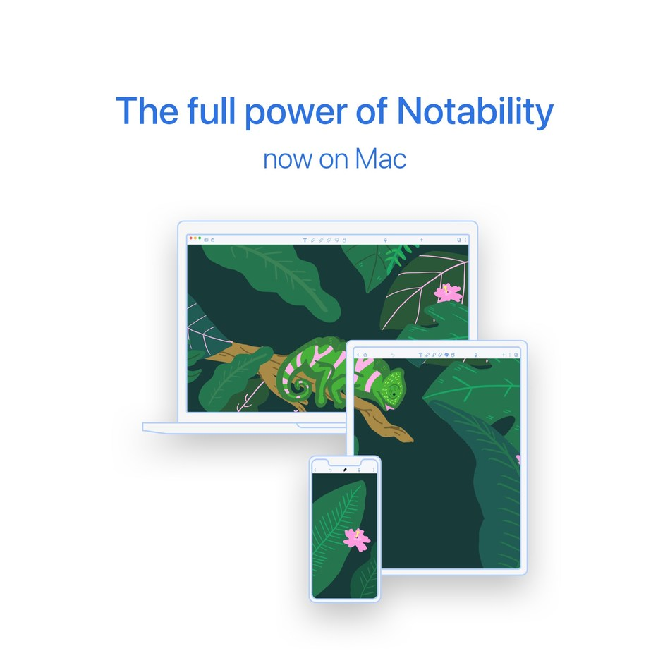 Notability unveiled a new Mac app delivering the same powerful features as their best-selling iPad app using Apple's Mac Catalyst technology.