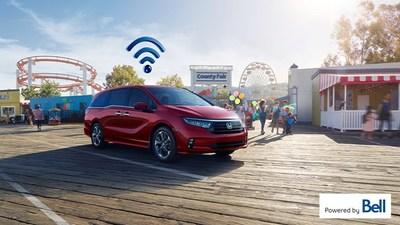 Honda Odyssey 2021 avec la plateforme Voiture connectée de Bell (Groupe CNW/Bell Canada)