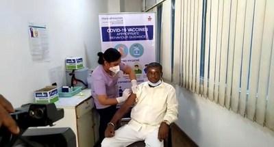 Mr. Mahadev 74-year-old patient undergoing dialysis got free vaccination at Manipal Hospitals Malleshwaram