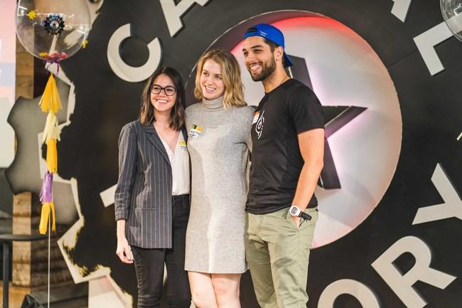 Georgina Elizondo Griffin, Abigail Rose Baez, Albert Baez at Capital Factory, Austin's center of gravity for startups.