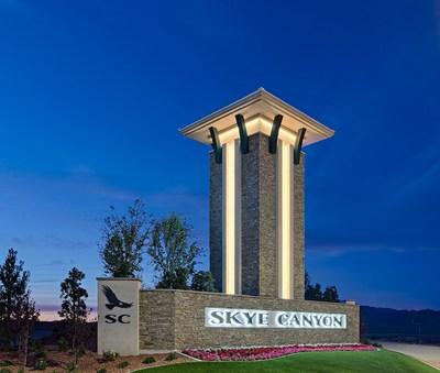 Skye Canyon monument in Las Vegas, NV   Century Communities