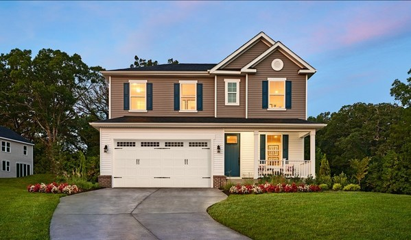 Richmond American's Lapis floor plan is modeled at Seasons at Chesapeake Club in North East, Maryland.