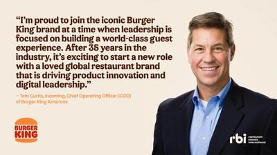 Tom Curtis' Bio (CNW Group/Restaurant Brands International Inc.)