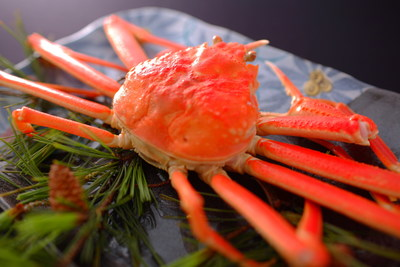 A winter specialty in Wakura Onsen - fresh crab straight from the ocean. (PRNewsfoto/Nanao Nakanoto DMO)