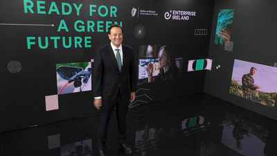 Ireland's Deputy Prime Minster Leo Varadkar Launching Green Innovation Campaign for St. Patrick's Day. (PRNewsfoto/Enterprise Ireland)