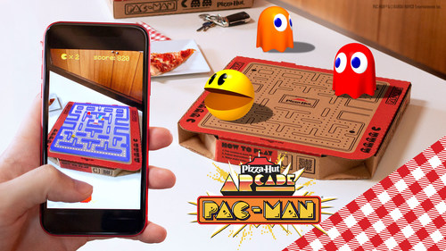Pizza Hut serves up 'Newstalgia' campaign celebrating what fans know and love about the pizza restaurant, but with a contemporary twist. Bringing the campaign to life, the brand unveils a limited-edition PAC-MAN box featuring an augmented reality game and a chance to win a custom PAC-MAN game cabinet.