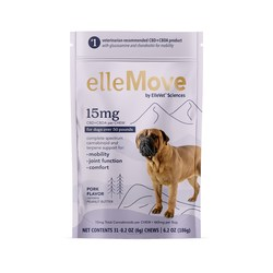 """ElleVet Sciences clinically-proven pet CBD+CBDA announces new retail product line """"ellePet."""" Available for all size dogs, """"elleMove"""" for dogs with joint discomfort."""