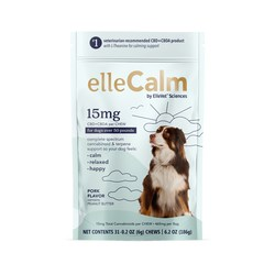 """ElleVet Sciences clinically-proven pet CBD+CBDA announces new retail product line """"ellePet."""" Available for all size dogs, """"elleCalm"""" for dogs with stress."""