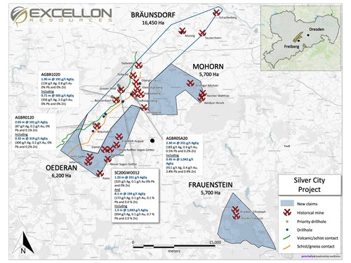 Excellon Doubles Ground Position at Silver City (CNW Group/Excellon Resources Inc.)