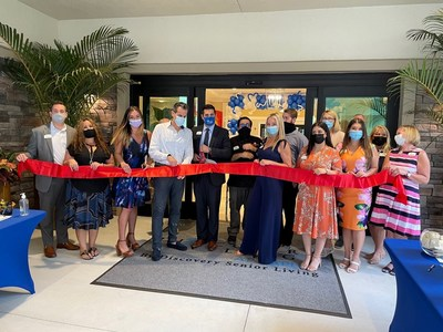 Community and corporate leaders gathered with 80+ seniors and guests to celebrate the grand opening of Discovery Village At Naples' new, Active Independent Living community on March 6.