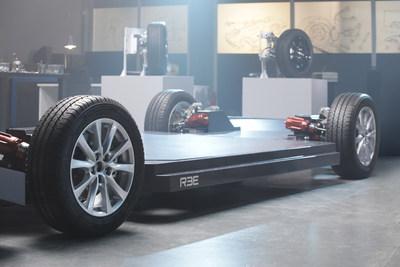 REE EV platform on display