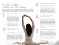 Five Simple Tips to Get your Best Sleep (CNW Group/Sleep Country Canada Holdings Inc. Investor Relations)