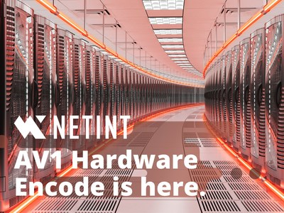NETINT Announced the World's First Commercially Available Hardware AV1 Encoder for the Data Center. Leveraging next-generation NETINT ASIC technology, Codensity G5 video transcoders will enable up to 100 live 4Kp60 AV1 video streams on a standard x86 or Arm-based server. The Codensity G5 ASIC combines superior AV1, AVIF, HEVC, and H.264 real-time encoding with support for 8K HDR including Dolby Vision, and hardware acceleration for video intelligence, ML and AI applications and services.