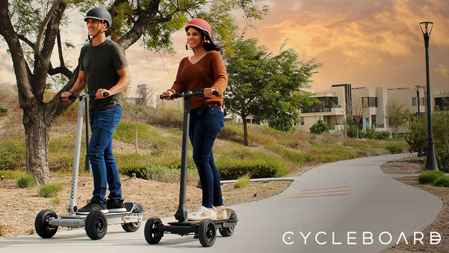 CycleBoard's 3 wheel Electric Scooters