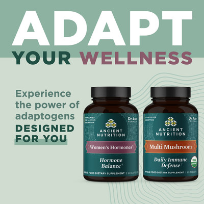 Ancient Nutrition's New Line of Fermented Herbs and Organic Mushrooms Makes Adaptogens Accessible To All