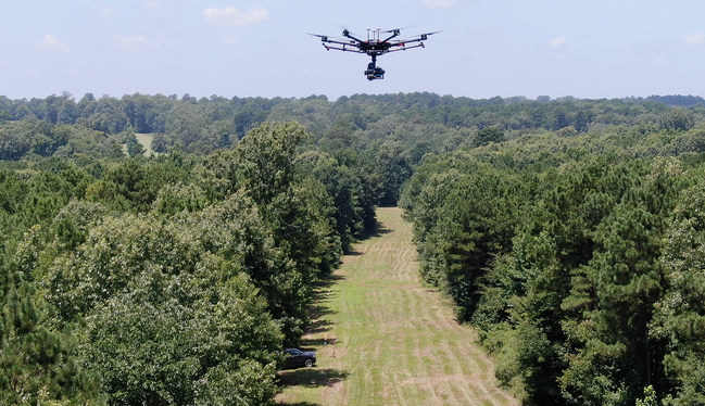 Long distance pipeline inspections using drones
