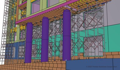 Trimble's new Tekla 2021 Scaffolding Tools help customers plan and detail shoring and access scaffolding systems, making the detailing work more automated, accurate and efficient.
