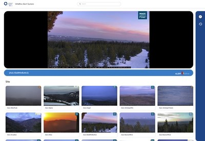 Real-time monitoring dashboard connected to 200 cameras in California, provided by ALERT Wildfire.