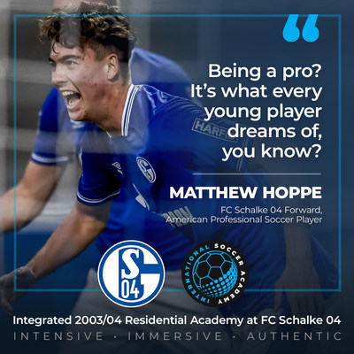Proud to partner, FC Schalke 04 and International Soccer Academy now offer a solid pathway for players aspiring to play abroad and who dream of becoming a professional soccer player like Matthew Hoppe