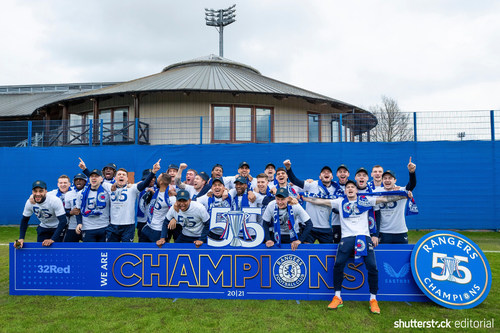 Shutterstock announces exclusive three-year partnership with Scottish Premiership Champions, Rangers Football Club.